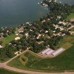 Aerial view of Chad's Storage in Madison Lake, MN